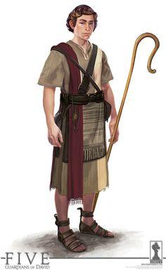 David na época que era um pastor de ovelhas. Character Concept, Character Art, Concept Art, Ancient Myths, Ancient Art, Fantasy Inspiration, Character Design Inspiration, Ancient Near East, David And Goliath