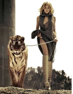 """""""petapeta:  ZsaZsa Bellagio  """"    I want to be her, tiger included"""