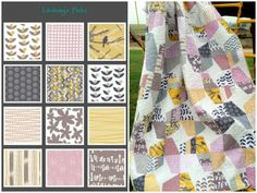 Hawthorne Threads Blog: Mustard Pink Gray Slate Picks and Quilt