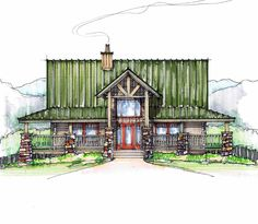 Sugar Pie Front Elevation -- Natural Element Homes