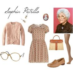 Sophia Petrillo (Estelle Getty) from Golden Girls by jem85 on Polyvore featuring Dorothy Perkins, Jack Wills, Hobbs, John Lewis, Hermès, J.Crew and Vienna Line