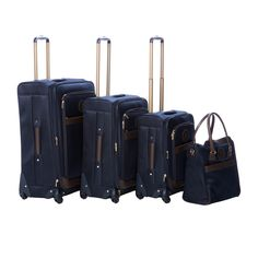 2dca6e5b38f Anne Klein 7918P02 Navy Newport 4-piece Expandable Spinner Luggage Set  Conjuntos De Equipaje,