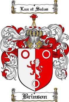 Brinson Coat of Arms Brinson Family Crest Instant Download