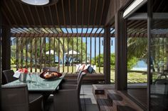 Vomo Fijian Resort, The Residence Outdoor Dining.