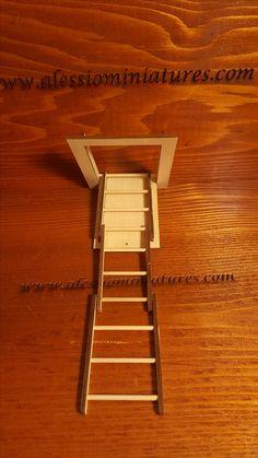 Attic Pull Down Stairs [ALE2299] - $39.99 : Miniature Designs, Full Service Dollhouse Miniature Shop in Georgia