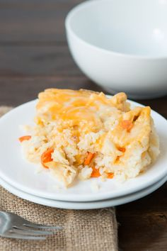 Quick and Easy Chicken and Rice Casserole ohsweetbasil.com