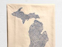 Knitten Mitten Organic Cotton Floursack Tea by RethinkDesignCo
