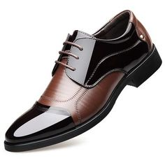 Sensible Brand Patent Leather Business Mens Dress Shoes Pointed Toe Oxford Shoes For Men Breathable Mesh Formal Office Flats Eu 38-48 Shoes Men's Shoes