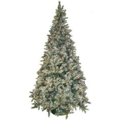 9 ft. Pre-Lit Siberian Frosted Pine Artificial Christmas Tree with Clear Lights and Pine Cones-HD-92290C1 at The Home Depot $450