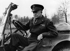 General Eisenhower (US) in his Jeep during World War II. He was the 34th President of the United States from 1953 until 1961. http://en.wikipedia.org/wiki/Dwight_D._Eisenhower