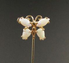 14k Gold Stickpin Opal Stickpin Opal Brooch by StyleVintageJewelry