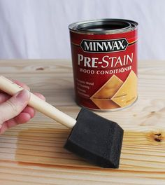 How To Paint Furniture | Vintage Gray/Brown Stain on Pine | Ana White - Homemaker