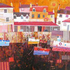 Work by Artist Simon Hart - Dartmouth UK Port Isaac, Evening Sun, Artwork Ideas, Dartmouth, Some Image, Mixed Media Collage, Site Design, Design Development, New Media