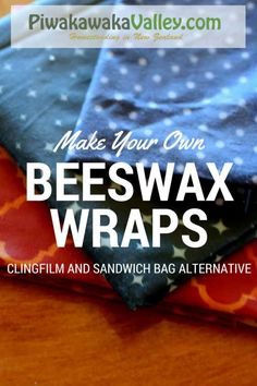 Make you own beeswax wraps an alternative to clingfilm or plastic wrap. How to make your own beeswax wraps! Plastic wrap alternatives that you can make yourself! Make Your Own, Make It Yourself, How To Make, Diy Beeswax Wrap, Bees Wax Wraps, Tips & Tricks, Cotton Quilting Fabric, Bee Fabric, Plastic Wrap