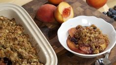 VIDEO: Kary Osmond Peach and Blueberry Crisp Recipe - http://cakedecoratingcoursesonline.com/cake-decorating/video-kary-osmond-peach-and-blueberry-crisp-recipe-2/