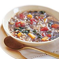 Barley and Lentil Soup with Swiss Chard by SELF