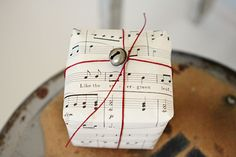 Singing bells Christmas wrap.  Repinned by www.mygrowingtraditions.com