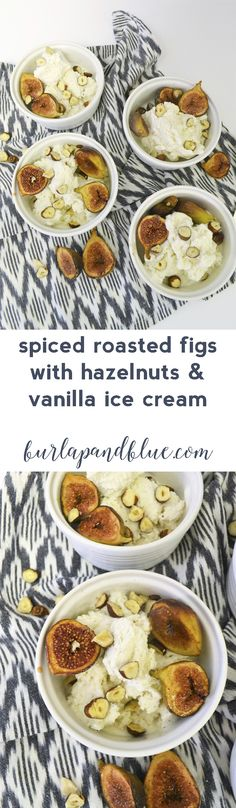 spiced roasted figs with hazelnuts and vanilla ice cream! #Breyers150 #ad…