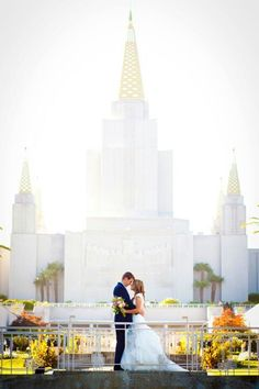 Oakland temple. Its like a prince and princess with a castle. What every girl dreams of