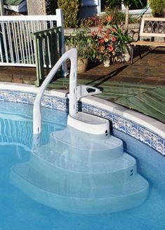above ground pool steps ladders
