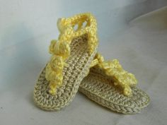 Baby Beach Sandals  Crocheted Baby Shoes  FREE by HalesBeeHandmade, $11.29