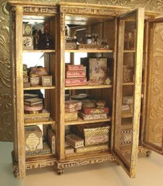 Dollhouse bathroom armoire