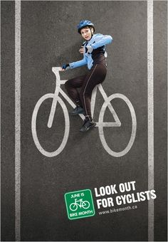 Bike safety ad for bike month.