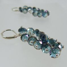 Check out this item in my Etsy shop https://www.etsy.com/listing/116022602/aquamarine-blue-crystal-cluster-earrings