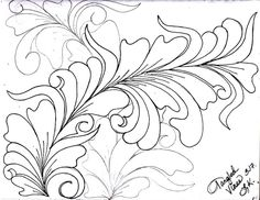 I have been working in my sketchbook in the evenings. Drawing wild vines has been FUN for me. I like to draw out a spine line in pen. Longarm Quilting, Free Motion Quilting, Machine Quilting, Denim Quilt Patterns, Quilting Patterns, Quilting Ideas, Patch Quilt, Quilt Blocks, Whole Cloth Quilts