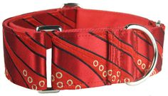 "Red Retro Stripes Martingale Collar; 1.5"" wide by kninecouture, $40.00"