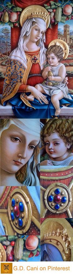 G. D. Cani - Virgin and Child - Nedlands, 2014. Top image: completed work. Subsequent images, details...