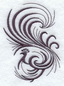 Inky Peacock design (E6751) from www.Emblibrary.com