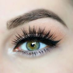 winged liner, lush lashes and lots of shimmer! ~ we ❤ this! moncheribridals.com