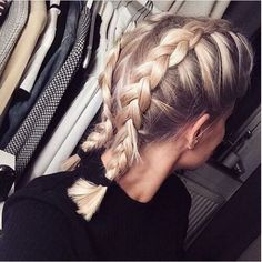 Boxer braid short hair.