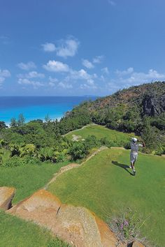 The amazing 15th Hole at Constance Lémuria, Seychelles