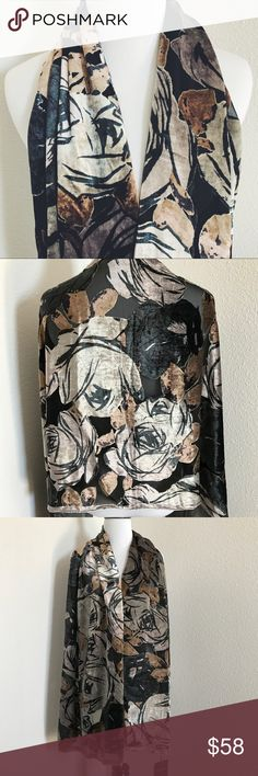 "Cynthia Rowley Fall Wrap Scarf Silk Evening Perfect wrap / scarf for fall • Silk blend • Measurements laying flat (approximate): 21"" x 70"" Cynthia Rowley Accessories Scarves & Wraps"