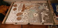 Mosaic for Bathroom, in progress Mosaic, Wine, Bathroom, Painting, Home Decor, Art, Washroom, Art Background, Bath Room