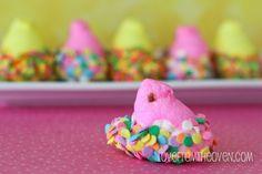 Chocolate Dipped Easter Peeps  #peeps
