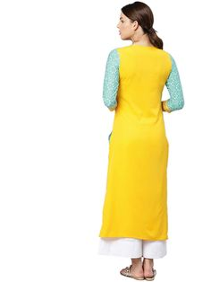 Vaamsi Women's Crepe a-line Kurta Fancy Kurti, A Line Kurta, Product Offering, Suits You, Winter Wear, Amazon Today, Cold Shoulder Dress, High Neck Dress, Summer Dresses