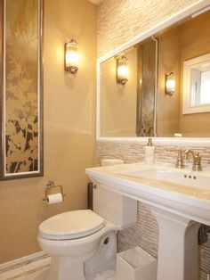 I like the mirror and lighting.  Bathroom Small Bathroom Design, Pictures, Remodel, Decor and Ideas - page 8