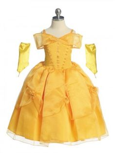 Your girl will be transformed into Belle from Beauty and the Beast once she wears this gorgeous looking dress