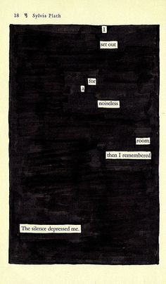 poems created by blacking out newspapers or book pages. beautiful!