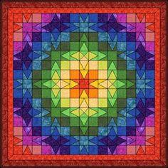 Patchwork pattern: Eight-Pointed Star - Arkansas Snowflake