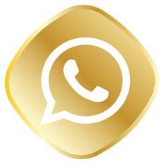 Golden Whatsapp Icon Whatsapp Logo Vector and PNG Whatsapp Png, Vector Whatsapp, Whatsapp Gold, Facebook Icon Png, Logo Facebook, Web Banner Design, Icon Design, Design Design, Apple Logo