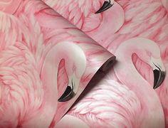 Roze Flamingo Wallpaper dierlijke Print moderne vogels veren Luxury Rasch | Fruugo
