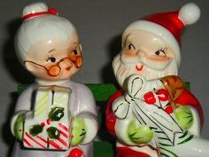 i absolutely adore vintage christmas decorations and salt and pepper shakers pictured here are some of the adorable vintage christmas santa shakers from