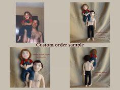 Needle felted Personalized doll custom order by FunFeltByWinnie