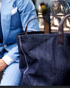 Denim Mens Tote bag.