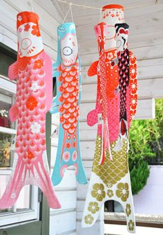 Koinobori from Madame Mo. I have a green one of these, wish I could have one in each colour!