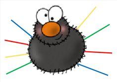 Kleurenspel! (met gekleurde frisco-stokjes om de kleuren te identificeren)(LaLaLien) Spider Art, Autumn Crafts, Fimo Clay, Fall Diy, Spiders, Place, Maths, Etsy, Pom Poms
